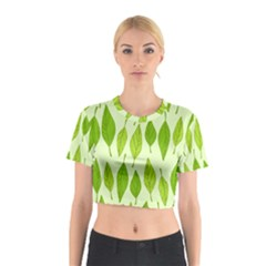 Spring Leaf Green Cotton Crop Top