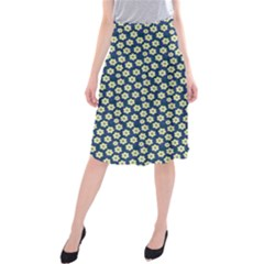 Floral Seamless Flower Blue Midi Beach Skirt