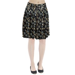Clipart Chromatic Floral Gold Flower Pleated Skirt