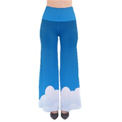 Clouds Illustration Blue Sky Pants