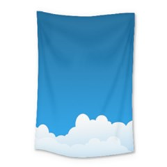Clouds Illustration Blue Sky Small Tapestry
