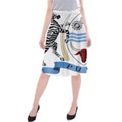 Coat of Arms of Botswana Midi Beach Skirt