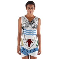 Coat of Arms of Botswana Wrap Front Bodycon Dress