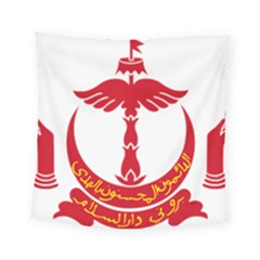 Emblem Of Brunei Square Tapestry (small)