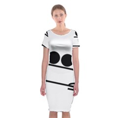 Bobsleigh Pictogram Classic Short Sleeve Midi Dress