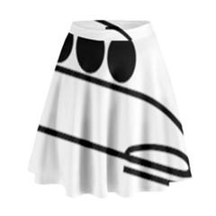 Bobsleigh Pictogram High Waist Skirt