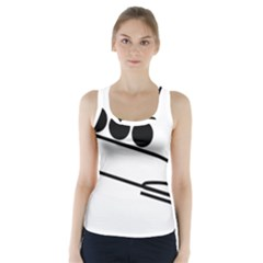 Bobsleigh Pictogram Racer Back Sports Top