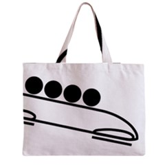 Bobsleigh Pictogram Medium Zipper Tote Bag