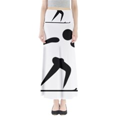 Cross Country Skiing Pictogram Maxi Skirts