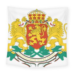 Coat Of Arms Of Bulgaria Square Tapestry (large)