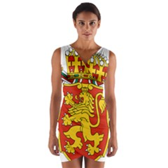 Lesser Coat of Arms of Bulgaria  Wrap Front Bodycon Dress