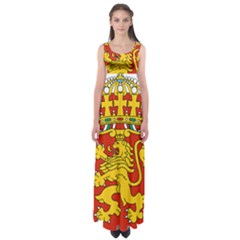 Lesser Coat of Arms of Bulgaria  Empire Waist Maxi Dress