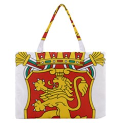 Lesser Coat of Arms of Bulgaria  Medium Zipper Tote Bag