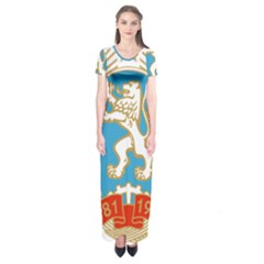 Coat of Arms of Bulgaria (1971-1990) Short Sleeve Maxi Dress