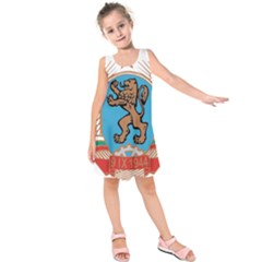 Coat of Arms of Bulgaria (1968-1971) Kids  Sleeveless Dress