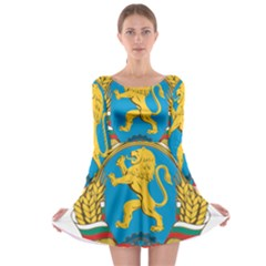 Coat Of Arms Of Bulgaria (1948 1968) Long Sleeve Skater Dress