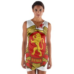 Coat of Arms of Bulgaria (1948) Wrap Front Bodycon Dress