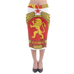 Coat of Arms of Bulgaria (1948) Midi Pencil Skirt