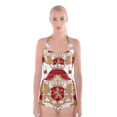 Coat of Arms of Bulgaria (1881-1927) Boyleg Halter Swimsuit