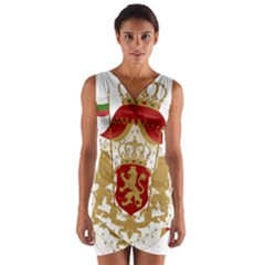 Coat of Arms of Bulgaria (1881-1927) Wrap Front Bodycon Dress