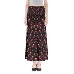 Skulls In The Dark Night Maxi Skirts