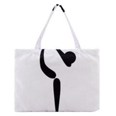 Figure Skating Pictogram Medium Zipper Tote Bag