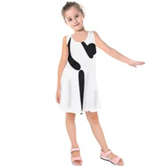 Figure Skating Pictogram Kids  Sleeveless Dress