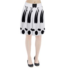 Freestyle Skiing Pictogram Pleated Skirt
