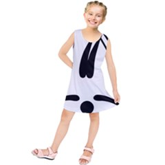 Freestyle Skiing Pictogram Kids  Tunic Dress
