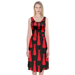 Dresses Seamless Pattern Midi Sleeveless Dress
