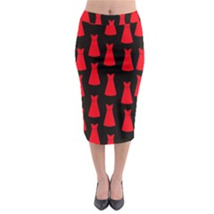 Dresses Seamless Pattern Midi Pencil Skirt