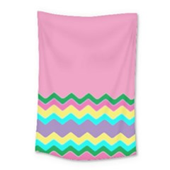 Easter Chevron Pattern Stripes Small Tapestry