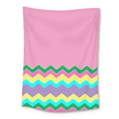 Easter Chevron Pattern Stripes Medium Tapestry