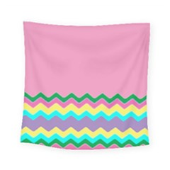 Easter Chevron Pattern Stripes Square Tapestry (small)