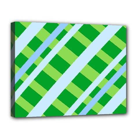 Fabric Cotton Geometric Diagonal Canvas 14  x 11