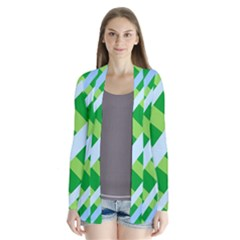 Fabric Cotton Geometric Diagonal Cardigans