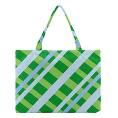 Fabric Cotton Geometric Diagonal Medium Tote Bag