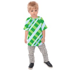 Fabric Cotton Geometric Diagonal Kids  Raglan Tee