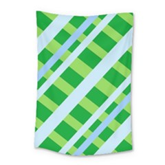 Fabric Cotton Geometric Diagonal Small Tapestry
