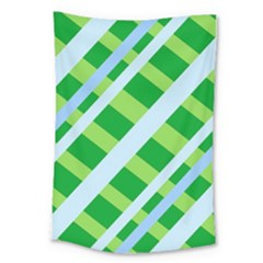 Fabric Cotton Geometric Diagonal Large Tapestry