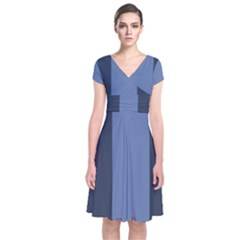 Fibonacci Short Sleeve Front Wrap Dress