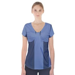 Fibonacci Short Sleeve Front Detail Top