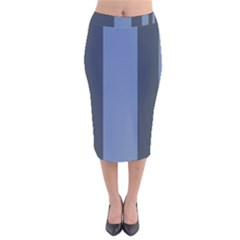 Fibonacci Velvet Midi Pencil Skirt