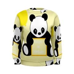 First Birthday Panda Card Women s Sweatshirt