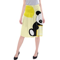 First Birthday Panda Card Midi Beach Skirt