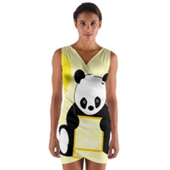 First Birthday Panda Card Wrap Front Bodycon Dress