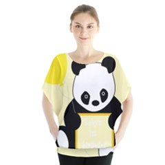 First Birthday Panda Card Blouse