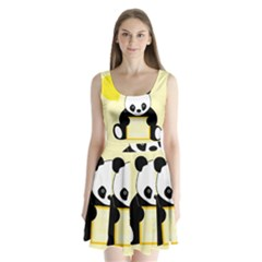 First Birthday Panda Card Split Back Mini Dress