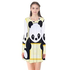 First Birthday Panda Card Flare Dress