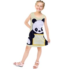 First Birthday Panda Card Kids  Tunic Dress